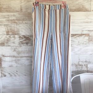 Forever 21 Striped Palazzo Pants SZ S
